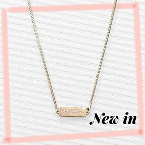 Gold Plated Pink Sparkly Pendent